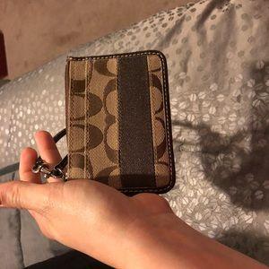 Coach wristlet wallet for money & id